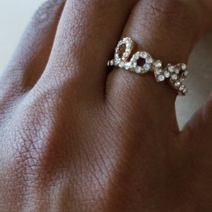 Jewelry - Crystals Script Word Love Ring